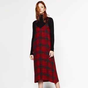✨ZARA✨Plaid Checked Cami Dress